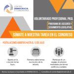 Postula hasta el 12 de julio al Programa de Asesoría y Seguimiento Legislativo