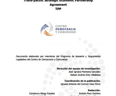 Informe Trans Pacific Strategic Economic Partnership Agreement